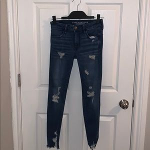 Super stretchy American Eagle ripped jeans